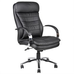 Boss Office Products Hi-Back Caressoft Plus Executive Chair with Chrome Base - Spring Tilt