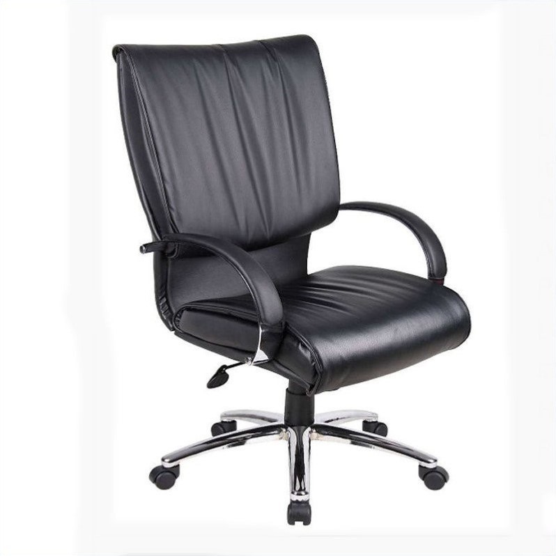 Boss Office Products High Back Executive Office Chair in Black