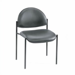 Armless Fabric Stacking Chair in Gray