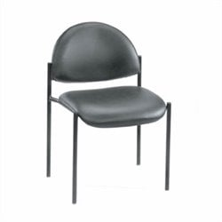 Boss Office Armless Fabric Stacking Chair in Gray