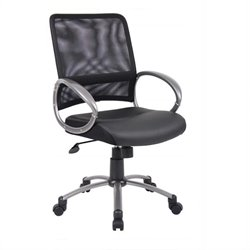 Boss Office Products Mesh Task Chair in Black