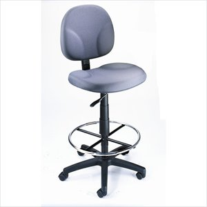 Boss Office Products Drafting Stool in Gray