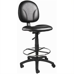 Boss Office Products Drafting Stool in Black Caressoft