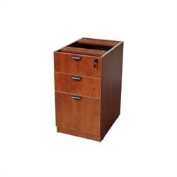 3 Drawer Wood File Cabinet in Cherry
