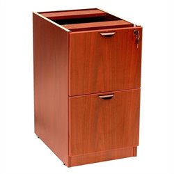Boss Office Products 2 Drawer Vertical Wood File Cabinet in Cherry