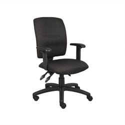 Boss Office Multi Function Task Chair with Adjustable Arms in Black