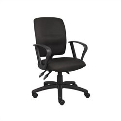 Multi Function Task Office Chair with Loop Arms in Black