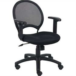 Boss Office Mesh Back Task Chair with Adjustable Arms