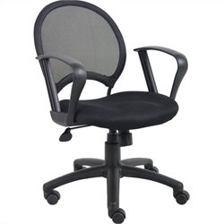Boss Office Mesh Back Task Chair with Loop Arms