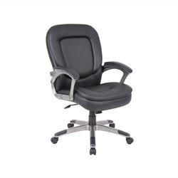 Boss Office Pillowtop Executive Mid Back Chair with Headrest