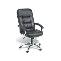 Executive Office Chair with Chrome Base in Black