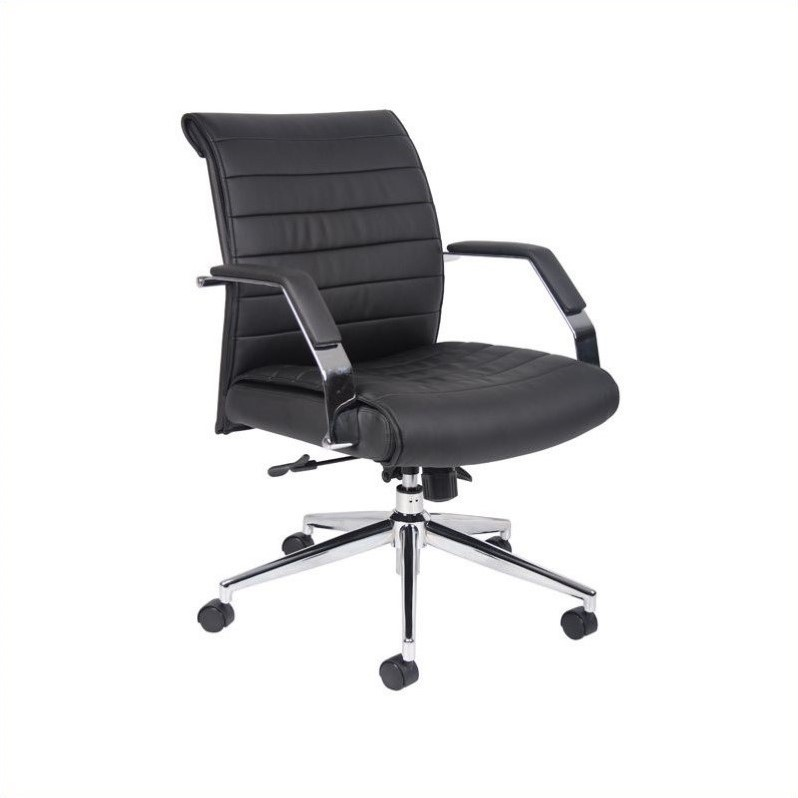 Executive Mid Back Ribbed Office Chair