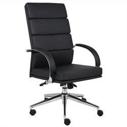 Boss Office Products Caressoftplus Executive Chair in Black - Black