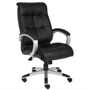 Double Plush High Back Executive Chair in Black