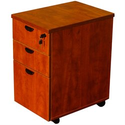 Boss Office Products Mobile Pedestal Box File in Mahogany