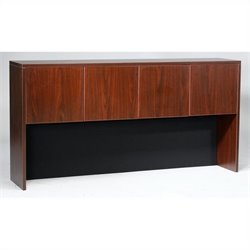 Boss Office Products 66 inch Four Door Hutch in Mahogany