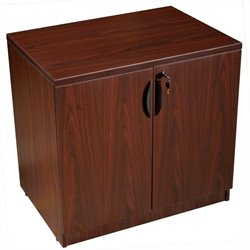 Boss Office Products Storage Cabinet in Mahogany