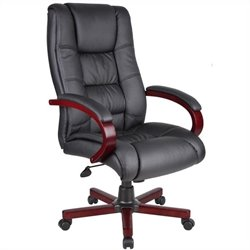 Boss Office High Back Executive Chair in Mahogany