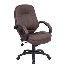 Boss Office Products Leatherplus Executive Office Chair