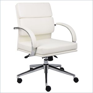 Boss Office Products Caressoftplus Executive Chair in White
