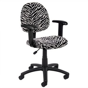 Print Microfiber Deluxe Posture Chair