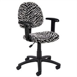 Boss Office Products Zebra Print Microfiber Deluxe Posture Chair