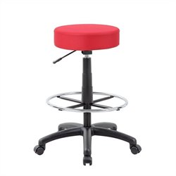 Boss Office Products The DOT Drafting Stool Red