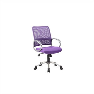 Mesh Back with Pewter Task Chair in Purple