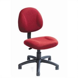 Boss Office Products Adjustable DX Fabric Posture Chair in Burgundy