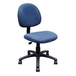Boss Office Products Adjustable DX Fabric Posture Chair in Blue