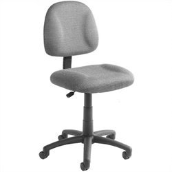 Boss Office Products Adjustable DX Fabric Posture Chair in Gray