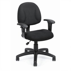 Boss Office Products DX Posture Office Chair with Adjustable Arms in Black