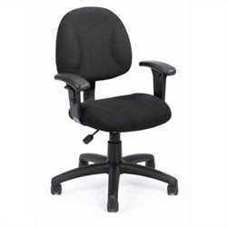 Boss Office Products DX Posture Chair with Adjustable Arms in Black
