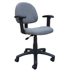 Boss Office Products DX Posture Office Chair with Adjustable Arms in Gray