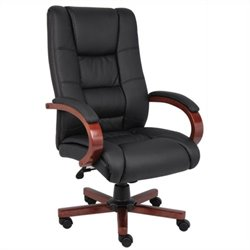 Boss Office High Back Executive Office Chair in Cherry