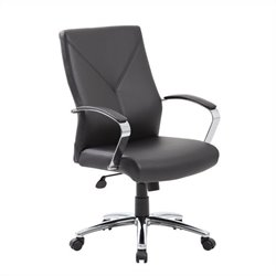 Boss Office LeatherPlus Executive Chair in Black