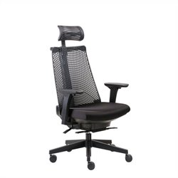 Boss Office Contemporary Executive Chair in Black with Headrest