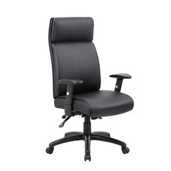 Boss Office Multi-Function Executive High Back Chair in Black