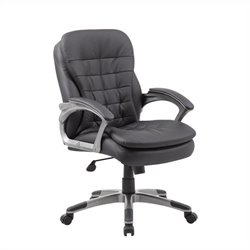 Boss Office Mid Back Executive Chair in Black and Pewter