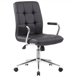 Boss Office Chair in Black with Chrome Arms