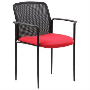 Boss Office Stackable Mesh Back Guest Chair
