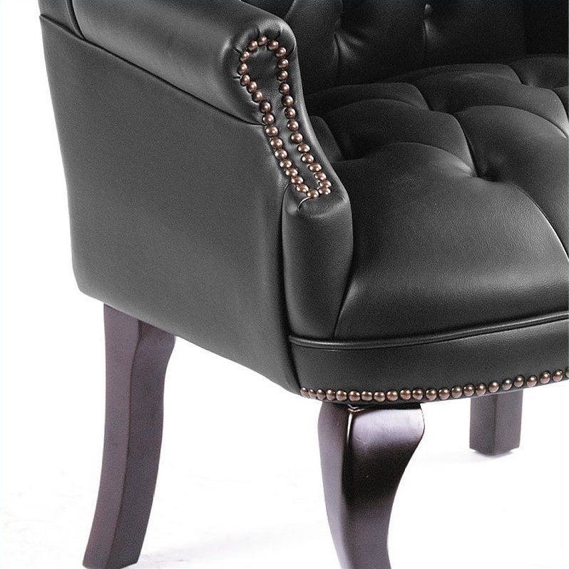 Boss Office Products Guest Office Accent Chair in Black