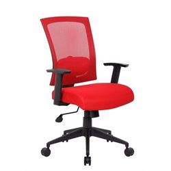 Boss Office Products Mesh Back Task Office Chair in Red