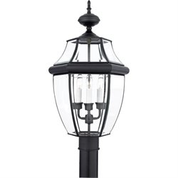Quoizel Newbury Large Post Lantern in Mystic Black