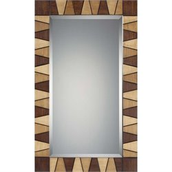 Quoizel Woodmere Large Mirror in Faux Wood