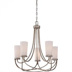 Quoizel Milbank Chandelier with 5 Lights in Vintage Gold