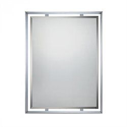 Quoizel Uptown Small Mirror in Polished Chrome