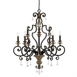Quoizel Marquette Two Tier Chandelier with 9 Lights in Heirloom