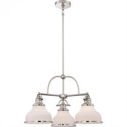 Quoizel Grant Dinette Chandelier with 3 Lights in Imperial Silver