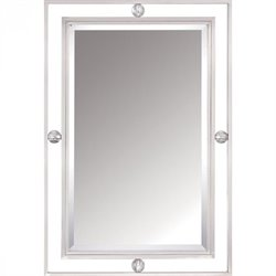 Quoizel Downtown Small Mirror in Brushed Nickel